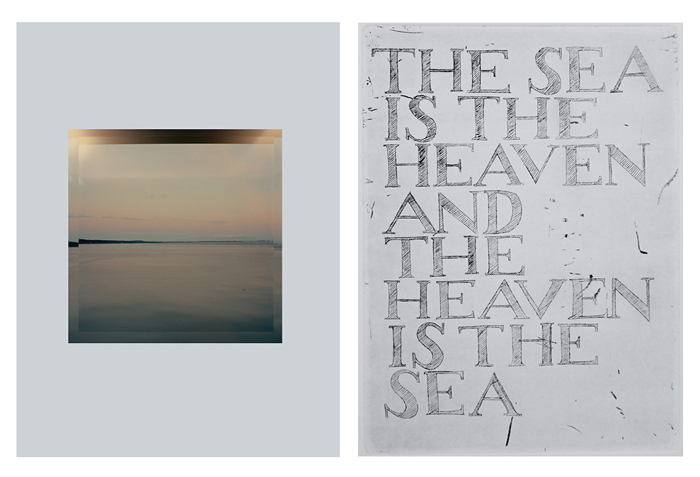 """Baltic Sea / Composition / Baltic Sea # 111 on Colour Plate X with etching """"The Sea is the Heaven and the Heaven is the Sea"""", 2015"""